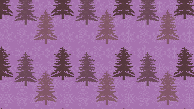 Purple Fir tree pattern