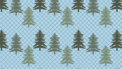 Blue Fir tree pattern