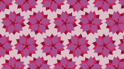 Purple poinsettia pattern