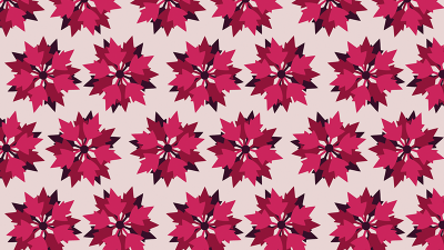 Red Poinsettia Hollyday pattern