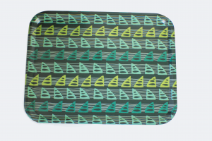 Trays with a PixelPencil abstract sail pattern