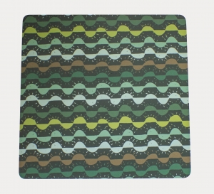 Trivet with PixelPencil sunset-rise pattern